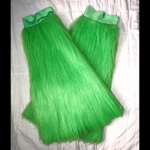 Neon Green Furry Boot Covers